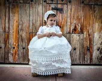 Baptism girl dress 1-24 months