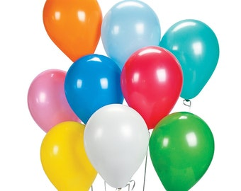 12 dozen (Set of 144) 11'' Assorted Multi-Color Latex Balloons Birthday Party Event Clown Decor HP247