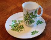"Crown Sterling ""Marlborough Vine"" Salad Plate and Mug"