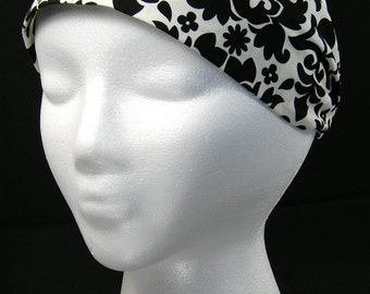 Floral pattern headwrap/headband (Handmade in the United States)