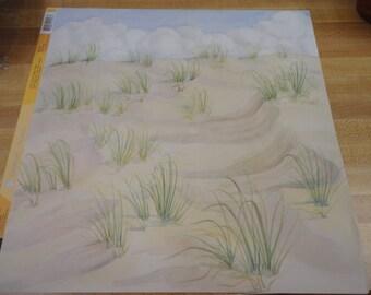 American Traditional 12x12 Scrapbook Paper Beach Dunes