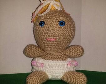 Crocheted Baby Girl Doll