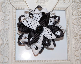 White and Black Bow