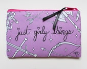 Just Girly Things Cosmetic Bag (PURPLE)