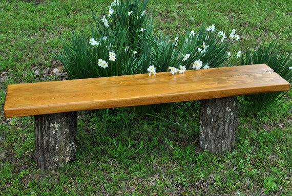 Outdoor Cypress Bench Top Stained Cherry