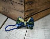 Starry Night Fabric Bow Headband - Fabric Headband - Handmade Hair Accessories