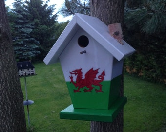 Welsh Flag Birdhouse