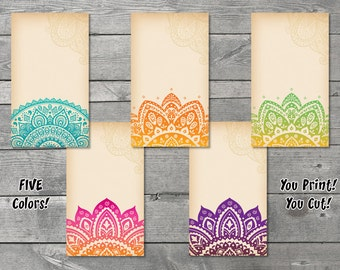 Earring Card Digital Download - Necklace Card - You Print - Designs of India