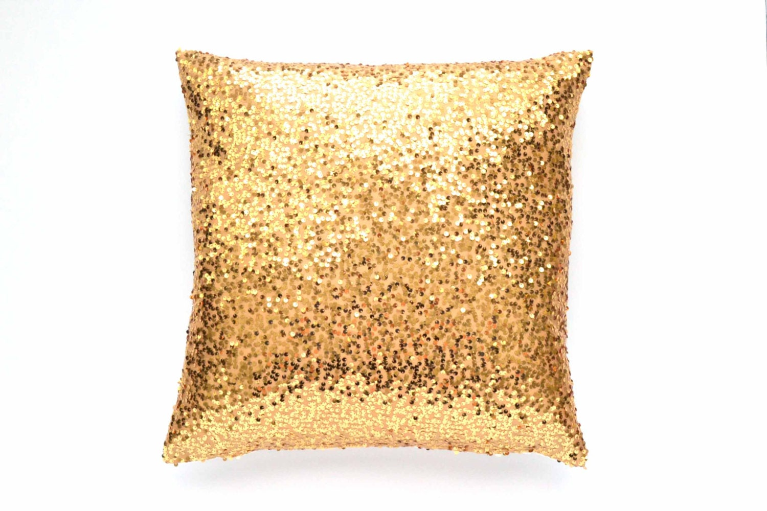 Gold Throw Pillow Cover Gold Sequin 20 x 20