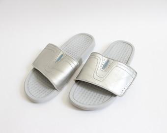 Silver Power Slide Sandal