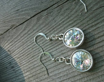 CLEARANCE- Round crystal drop earrings by ashley3535 (four to view)