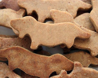 Little Dachshunds Dog Treats, Dog Biscuits, Gluten Free - Peanut Butter