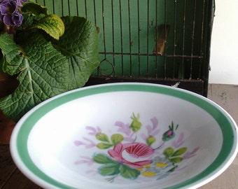 Victorian handpainted ceramic tazza