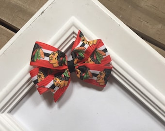 Chicago Blackhawks Stanley Cup Pinwheel Bow