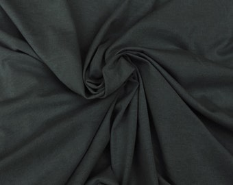 Charcoal Organic Cotton Fabric Jersey Knit by the Yard  5/15 Wholesale and Retail