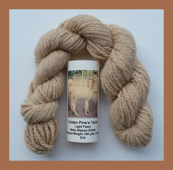 Royal Baby Alpaca Light Fawn Worsted Yarn 100 By