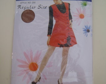 Vintage 1990's Coffee Deadstock Support Pantyhose