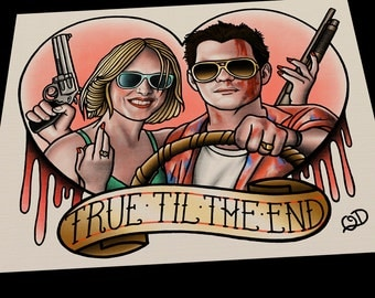 True Romance (True Til The End) Tattoo Art Print