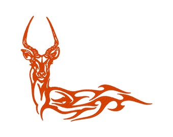 Flaming Antelope Embroidery Machine Design