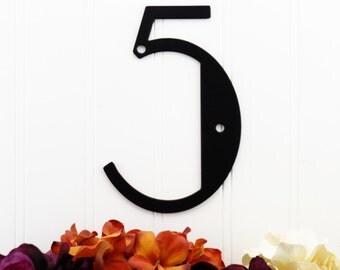 Custom Outdoor House Number Metal Sign - Black, Art Deco, Modern House Number, Custom Sign, House Sign, Outdoor Sign