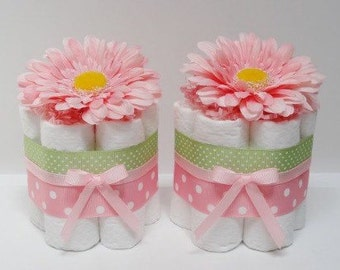 Mini Diaper Cakes - Centerpiece