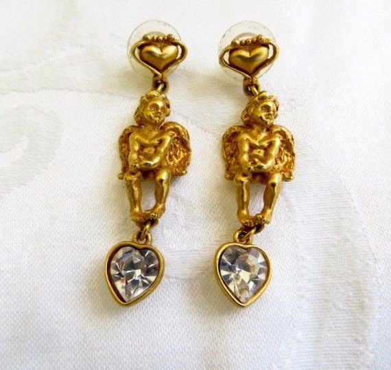 kirks folly earrings cherub stones