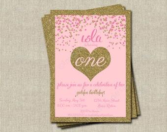 Golden Birthday Invitations - Printable Digital File