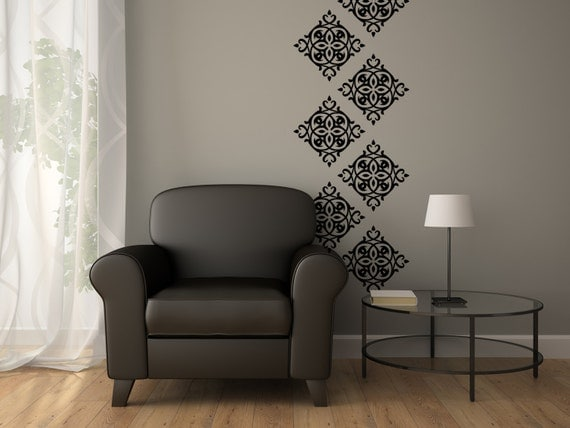 damask stencil decals vinyl wall paper damask wall decal black damask wall sticker by admin cp49789583