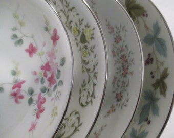 Vintage Mismatched China Dessert / Fruit Bowls - Set of 4