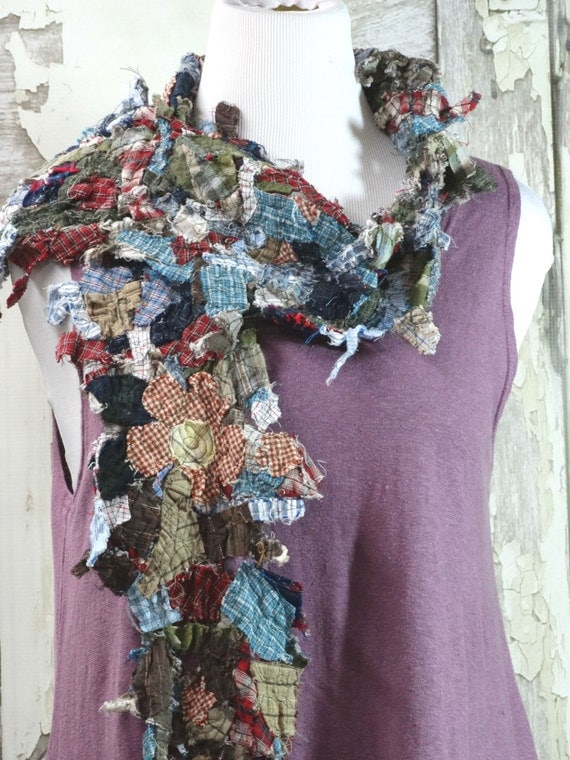 Shabby Chic Upcycled Clothing Rustic Scrappy Wearable Art