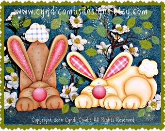 CC162 Silly Wabbits Painting E Pattern by Cyndi Combs
