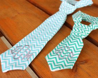 Boy Ties, Chevron Ties, Little Boy Neck Ties, Personalized Little Ties