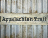Appalachian Trail Sign in Smokey Black - Rustic Wooden City Sign - Reclaimed Wood City Sign