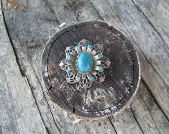 Brooch Blue Stone Vintage