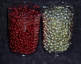 Bead garland,silver or red,12MM X 33ft roll,Christmas, holiday crafts,trim