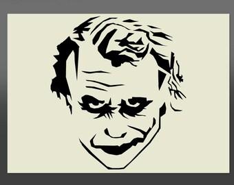 Joker Stencil Handmade Etsy Uk