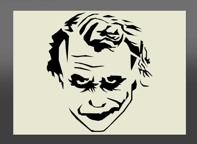 Visage Joker Batman Pochoir Différentes Tailles-de Haute