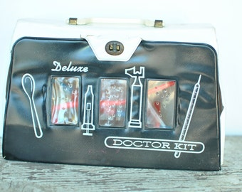 Vintage Toy Doctor Kit- Child's Doctor Bag