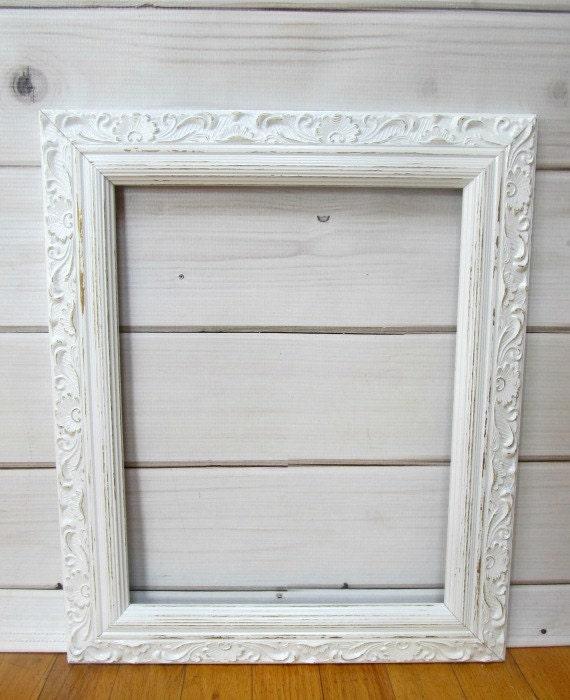 large wood frame wedding frame vintage antique white baby. Black Bedroom Furniture Sets. Home Design Ideas