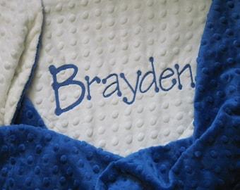 BABY BOY Personalized Minky Blanket