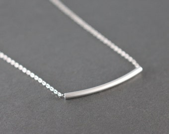 Silver  Bar necklace - minimal