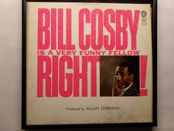 Glittered Record Album - Bill Cosby - Is A Very Funny Fellow Right!