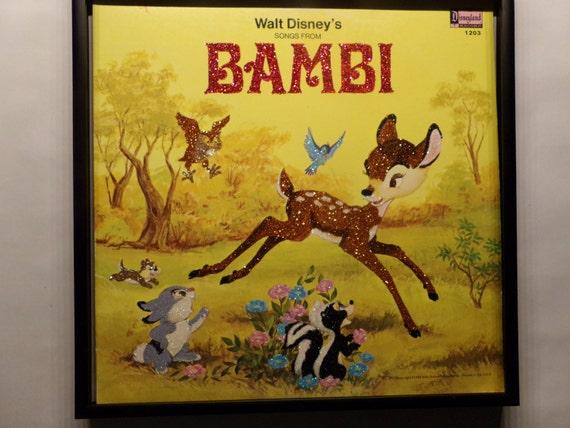 Glittered Record Album - Walt Disney - Bambi
