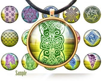 A treasury of celtic knots digital images- 1 inch rounds graphics for scrapbooking, Digital Printable 15 Bottle Cap Images, BUY 2 get 1 FREE