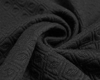 Black Jacquard Knit Stretch Fabric - Style 469