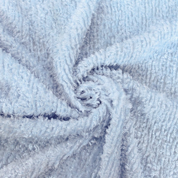 Baby blue franny faux fur fabric by the yard 1 yard for Baby fabric by the yard