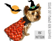 Halloween Dog Dress SEWING PATTERN * 1619 Emma Lee Dog Dress * Dog Harness Dress * Pet Dress * Dog Apparel * Dog Halloween Costume