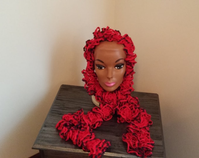 Red and Black Scarf Accessories, neckwarmer, Necklace scarf, Neck Wrap or Fashion Accessories