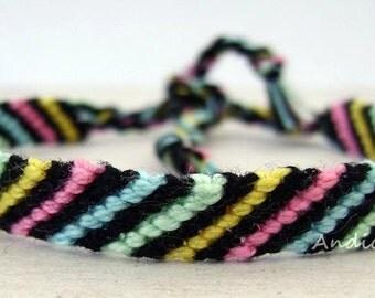 Friendship Bracelet, Macrame, Woven Bracelet, Wristband, Knotted Bracelet  - Colorful Bracelet