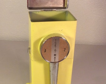 Vintage Yellow Ice Crusher, Ice O Mat Ice Machine
